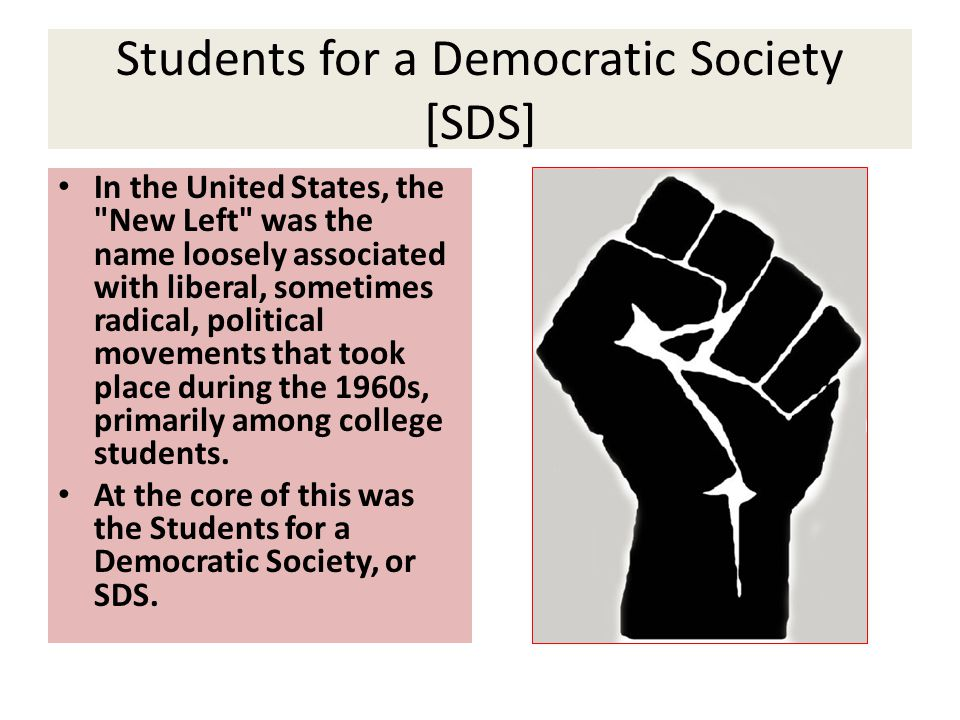 Students for a Democratic Society [SDS]